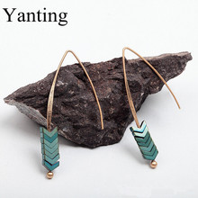 Yanting green ore arrows earrings for women vintage earring brincos earings fashion jewelry Christmas gift 2017 shop 0349
