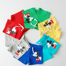 Clearance summer boys shorts cartoon Mickey shorts for kids cotton children's shorts free shipping for 2,3,4,6,7 age Kp-15002