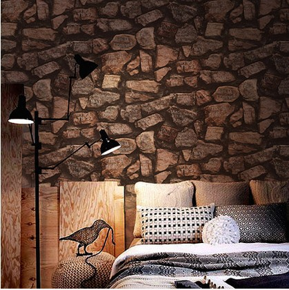Archaize stone wall rocks to thicken PVC wallpaper restoring ancient ways culture background wall rock brick grain stone modern<br><br>Aliexpress