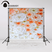 Allenjoy photo backdrops flower wall love wood props photocall photobooth studio newborn computer printing