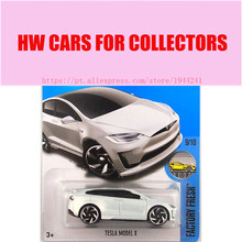 New Arrivals 2017 Hot Wheels 1:64 Tesla Model X Metal Diecast Cars Collection Kids Toys Vehicle For Children Juguetes Models(China)
