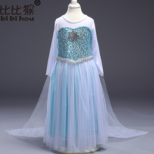 Girls Christmas Dress Baby Girls Carnival Costume for Elsa Anna Princess Dress Party Cosplay Girls clothing children clothes