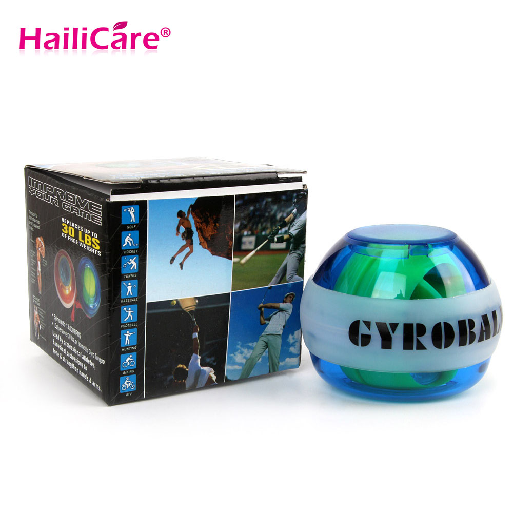 LED Gyroscope Exercise Ball  Wrist Arm  Care Ball Strengthener Force Ball Head Massager Health Care 12000 RPMS<br><br>Aliexpress