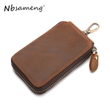 Buy NBSAMENG Genuine Leather Key Wallet Auto Car Key Cases Men Leather Hasp Key Holder Organizer Men Housekeeper Keys Organizer for $11.24 in AliExpress store
