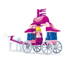 Pink Dream Girls Blocks Princess Kids Toys Carriage Car Building Blocks 57Pcs/Set Particles Bricks Gift Compatible With Lepin