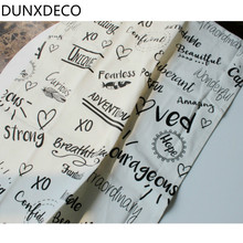 DUNXDECO 1PC 48x60CM Nordic White Black Words Number Love Home Cotton Table Placemat Kitchen Table Deco Photo Prop