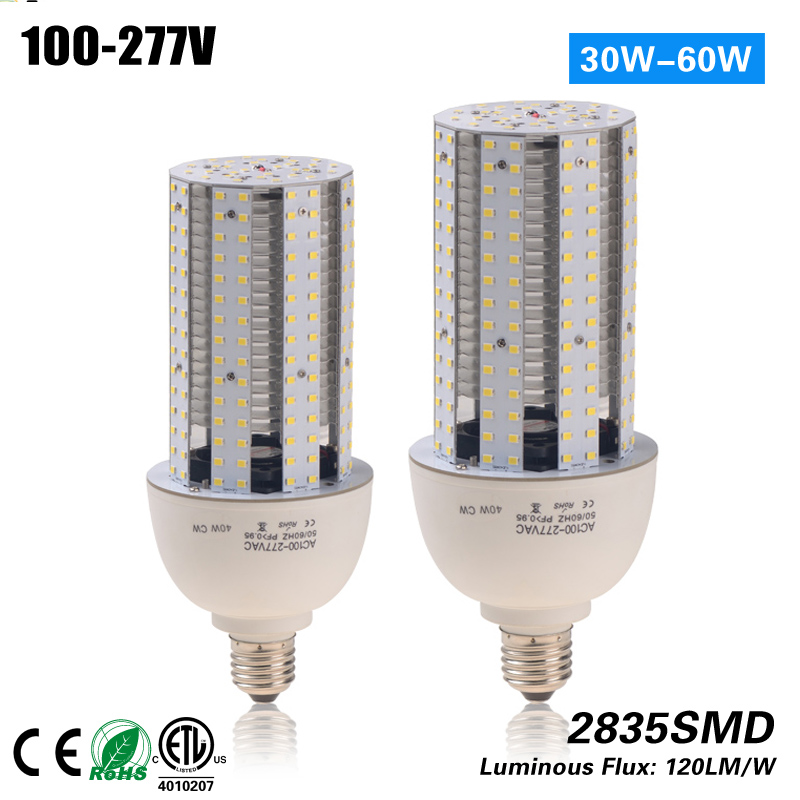 Free Shipping 3 years warranty 40W Led Corn lamp light CE ROHS ETL 100-277VAC replacement 120w<br>