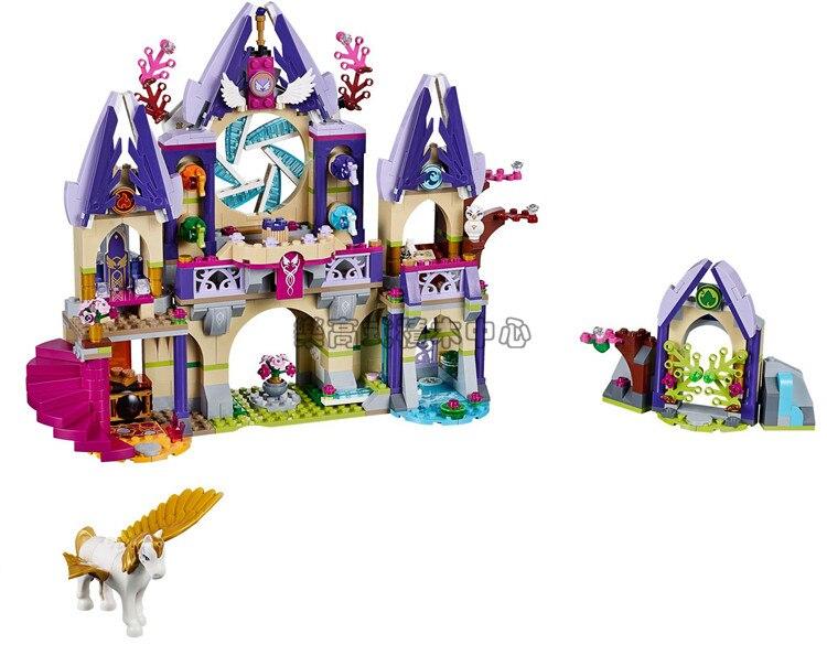 IN STOCK BL 10415 809 Pcs Compatible With legoe Elves 41708 Skyras Mysterious Sky Castle Model Building Kit mini Blocks Brick<br>