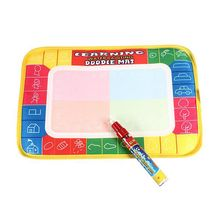 1 Set Baby Kids Painting Drawing Water Writing Aquadoodle Board Mat Magic Pen Doodle Painting  Mat ToysSize: 29 x 19cm