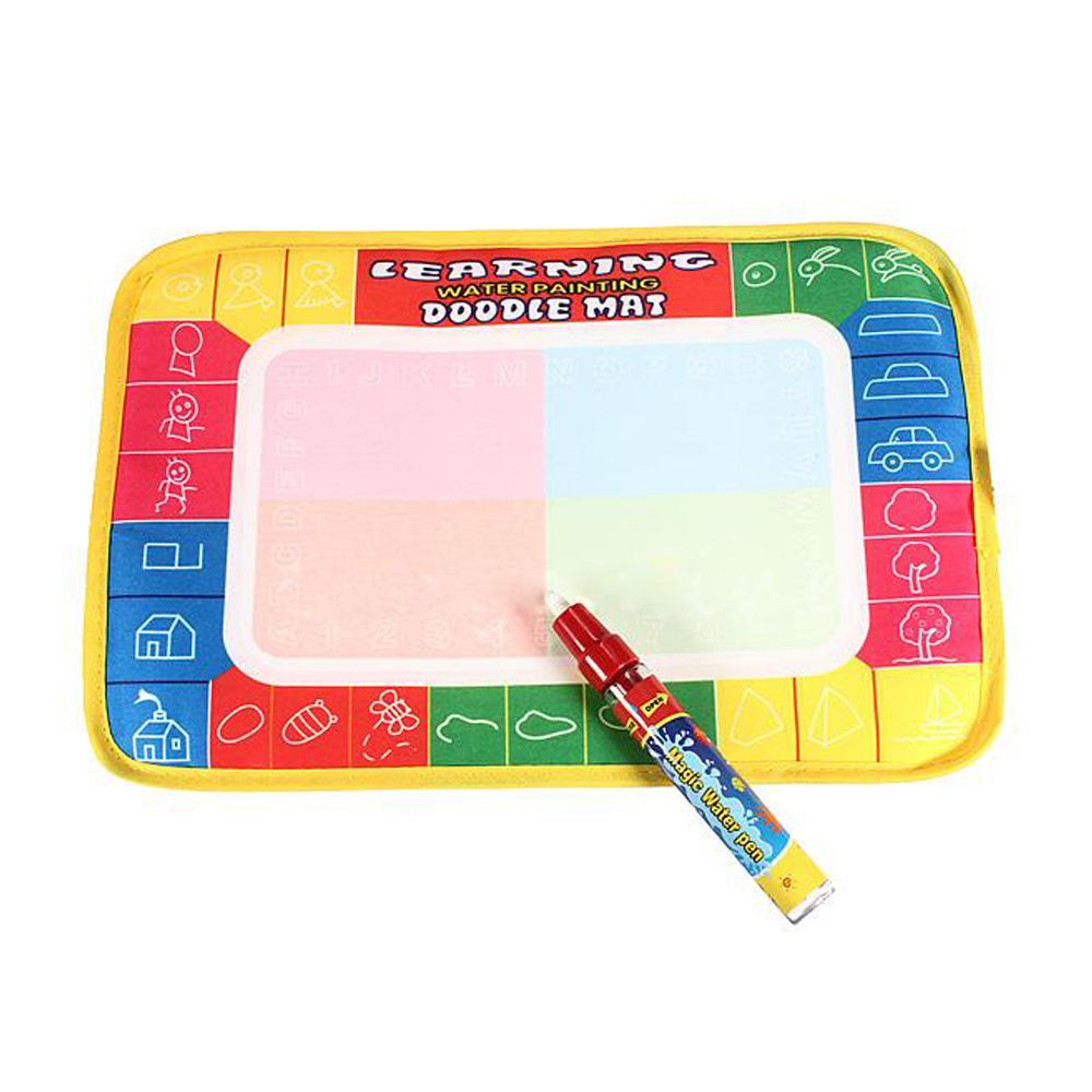 1 Set Baby Kids Painting Drawing Water Writing Aquadoodle Board Mat Magic Pen Doodle Painting Mat ToysSize: 29 x 19cm(China (Mainland))