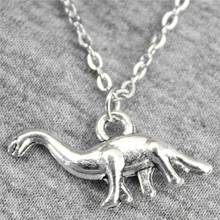 Buy Wholesale 30pcs Antique Silver Color 27*12mm Vegetarian Dinosaurs Pendant Metal Chain Necklace, Fashion Necklace Jewelry for $15.99 in AliExpress store