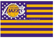 Los Angeles Lakers NBA basketball star American flag 90x150cm Sports decorative digital printing free shipping