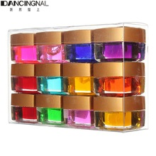 12Colors Pots Nail Art Gel Design Decoration Crystal Pure 3D Long Lasting Glaze UV Glue LED Polish Builder DIY Set 8ml