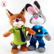 Singing and dancing rabbits foxes height 40 cm plush dolls creative electric vocal music toys electric toys gifts for children
