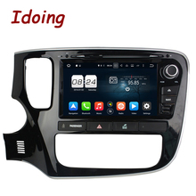 "Idoing 8""Steering-Wheel 2Din For Mitsubishi Outlander 32G 1024*600 8 Core Android 6.0 Car DVD Player GPS Navigation Bluetooth"