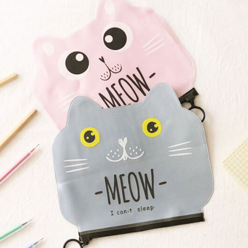 NEW Candy Snacks Coin Purse Women Transparent PVC Zipper Change Purses Cartoon Cat Wallet Holders Money Bag for Kids Girl Gift