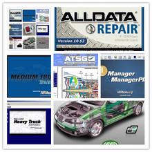v10.53 alldata software mitchell on demand auto repair+elsawin+vivid+atsg+moto heavy truck 49in1 hard disk 1tb all data(China)