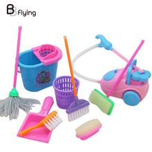 9Pcs/Set Cleaning Tool House Supplies Kids Pretend Toys Gifts Funny Creative(China)