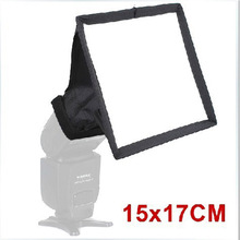 softbox 15cm*17cm Universal Foldable Flash Light Diffuser Softbox Soft box for Canon Nikon pentax all DSLR CAMERA free shipping(China)
