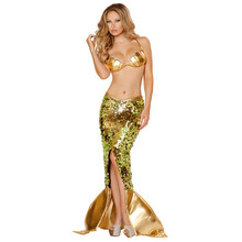 New Sexy Mermaid Tail Costume Adult Little Mermaid Tails Cosplay Squin Party For Girls Halloween Costumes For Women
