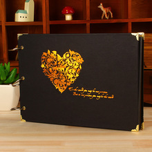 100% quality10 inch wedding album /wedding guest book/children family memory record handemade gift photo album(China)