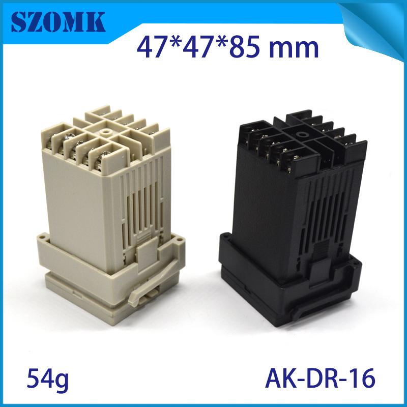szomk plastic din rail enclosure PLC plastic box for electronics project instrument case junction box (2)
