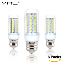 6pcs Bombillas E27 LED Lamp Bulb 220V 24 38 48 56 69 72 96 LEDs SMD 5730 lamparas Lampada LED High Bright spotlight Light