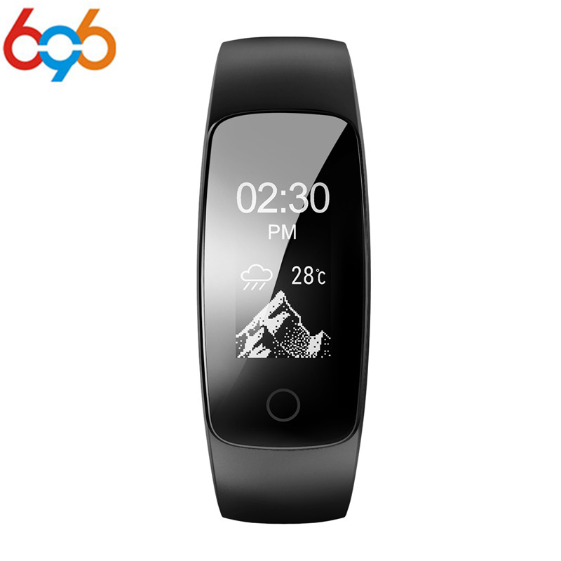GPS Smart Band ID107 Plus HR Fitness Bluetooth Bracelet Activity Sports Tracker Wristband Heart Rate Tracker & xiao mi