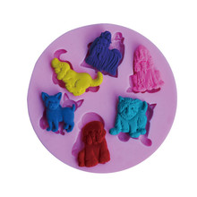 6 Kinds Of Lion Shape Silicone Cake Mold,3D Cartoon Bakeware Mould For Chocolate Cookie Candy  Fondant Cake Decoration Tools