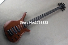 Hot sale factory custom 24 frets 5 strings electric bass guitar with ebony fingerboard,neck-thru-body,can be changed as request