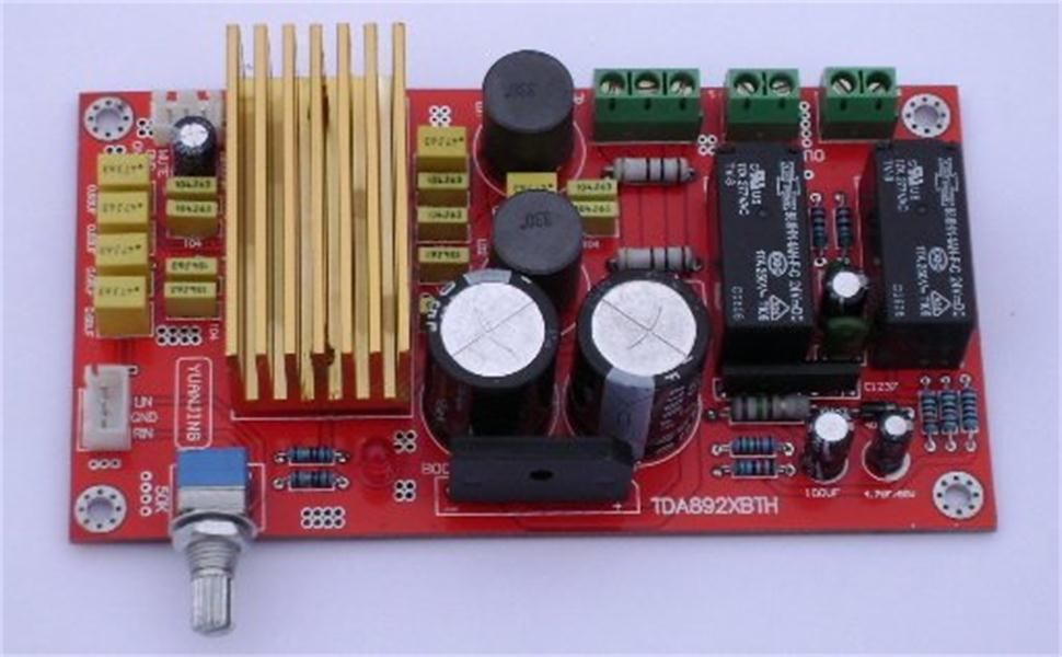 TDA8920 CLASS D relay speaker protect power-amp 100WX2 Updated version<br>