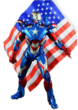 "Iron Man 3 Iron Patriot Action Figure Superhero Iron Man PVC Figure Toy 8""20CM IR006(China)"