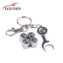 4 Pieces/set Car Wheel Tire Valve Caps With Mini Wrench Keychain Case For Opel Auto Keychain Spanner valve Caps Car Accessories(China)