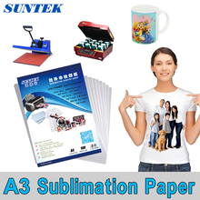 A3 Size 100 sheets Sublimation ink epson transfer Paper for MUGS SHIRTS PUZZLES(China)