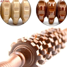 JETTING-1Pc New Wooden Exercise Roller Sport Injury Gym Body Trigger Point Muscle Roller Stick Massager Health Care 2 Color
