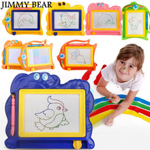 JIMMY BEAR 2 Pcs/Set Magnetic Drawing Board Sketch Pad Doodle Writing Craft Art for Children Kids(China)