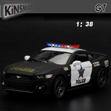 Brand New 1:38 Ford 2006 Mustang GT Police CCar Alloy Diecast Model Car Vehicle Toy Collection As Gift For Boy Children