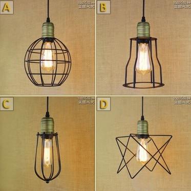 Nordic Loft Iron Art Droplight Industrial Vintage Lighting Pendant Light For Dining Room Bar Hanging Lamp Lamparas Colgantes<br>