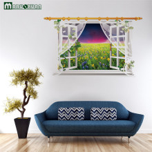 Maruoxuan Sky Grassland Scenery Screen False Window Scenery Wall Stickers Living Room Bedroom Art Mural Wall Decals