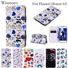 Buy Huawei Honor 6A Case Flip Leather Wallet Phone Cases Protector Wisecoco card slot Stand Cover huwei honor6a Fundas Coque for $4.99 in AliExpress store