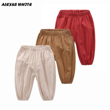 Baby Calf-Length Pants 2017 Summer Boys Children's Clothes Loose Cotton Line Trousers Kids Casual Pants Boy
