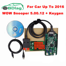 2017 Newest V5.00.12 R2 WoW SNOOPER With Bluetooth+Keygen Car Truck Diagnostic Tool WOW VCI Better Than TCS CDP PRO Free Ship