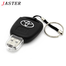 JASTER Toyota Chave Do Carro USB Flash Drive 4GB 8GB 16GB 32GB personalizar Pen Drive Memory Stick USB dispositivo De Armazen