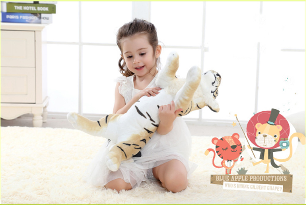 Fancytrader Soft Stuffed Animals Tiger Plush Toys Pillow Simulated Animal Baby Tiger Leopard Doll Brinquedo Toys For Children10