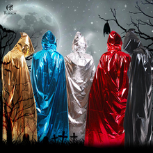 Child Adult Long Red Black Silver Blue Gold Halloween Cloak Demon Witch Vampire Wizard Cloaks Carnival Party Cosplay Costumes