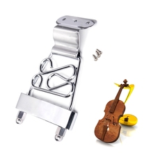 Archtop Jazz Trapeze Short 6 String Tailpiece Bass Guitar Bridge With Screws(China)