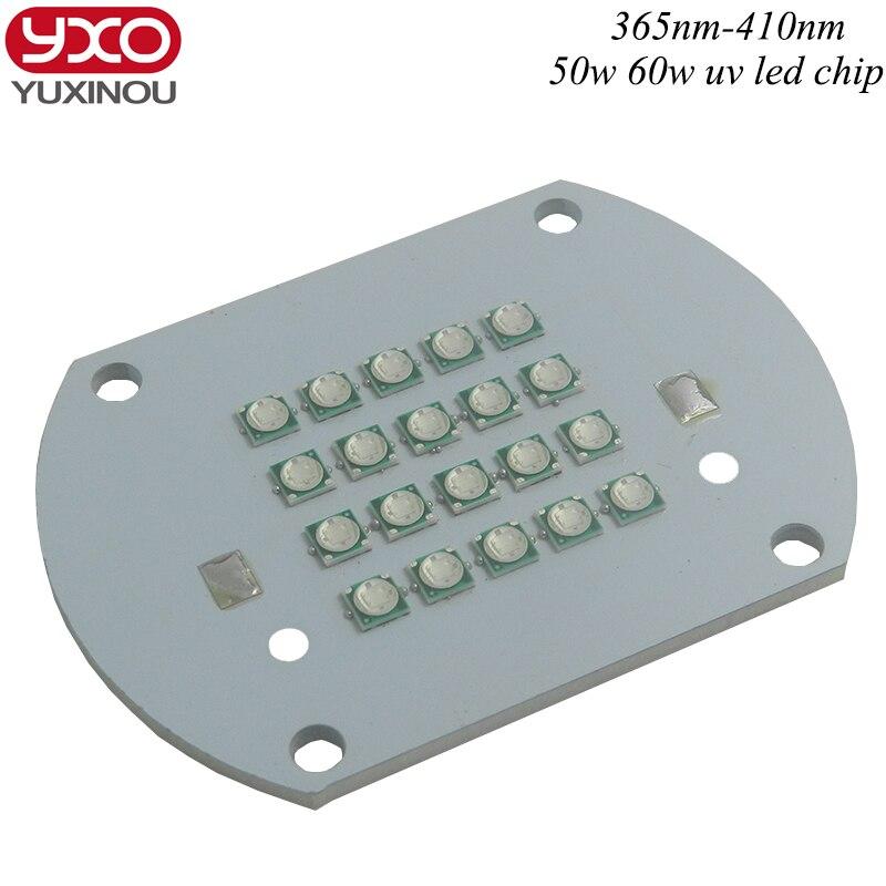 50W High Power UV 365nm 380nm 395nm 400nm 410nm 45MIL High Power Purple LED light Lamp Chip for uv glue curing light ink<br>