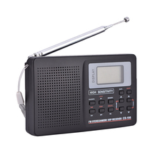 Mayitr 1pc 2 Type Portable World Full Band Radio Professional FM/SW/MW/LW Radio Receiver Digital function for Radio(Hong Kong)