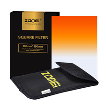"Zomei 100x150mm Square Filter Graduated Color Orange/Red/Blue/Pink/Purple/Green Filter For Cokin Z-Pro Lee Hitech 4X6"" Holder"