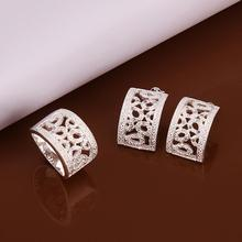silver plated Earrings Ring size 8 Fashion Brand Jewelry Set New Products